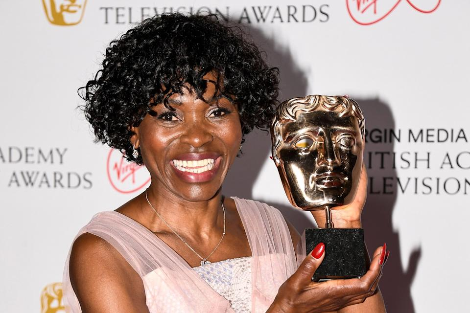 Rakie Ayola wins Best Supporting Actress award for her role in Anthony (AP)