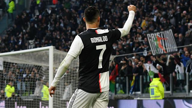 "After Cristiano Ronaldo scored a hat-trick against Cagliari, Maurizio Sarri said the Juventus forward was ""really happy"" now he is fit."