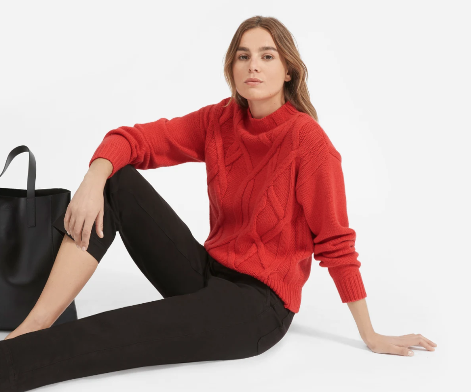 Everlane has the best deals on fall-friendly cashmere sweaters, starting at just $50! (Photo: Everlane)
