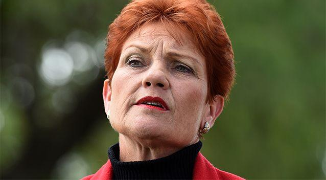 Pauline Hanson says she has received strong support from members of the publc who agree with her views on Muslim people. Photo: AAP