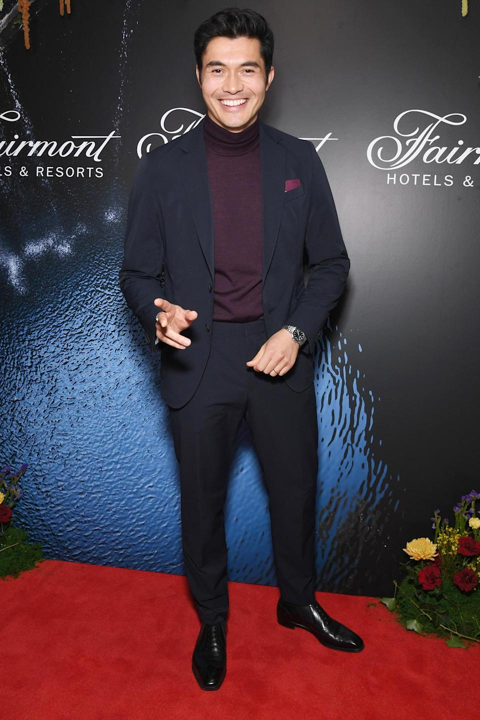"""<p>Henry Golding looks dapper at the Fairmont Hotels & Resorts """"That Fairmont Feeling"""" event on Oct. 7 in N.Y.C. </p>"""
