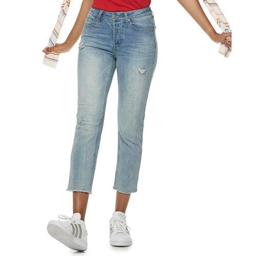 """<p>""""These soft <a href=""""https://www.popsugar.com/buy/Popsugar-Kohl-Collection-Embroidered-Midrise-Straight-Leg-Jeans-488483?p_name=Popsugar%20at%20Kohl%27s%20Collection%20Embroidered%20Midrise%20Straight-Leg%20Jeans&retailer=kohls.com&pid=488483&price=30&evar1=fab%3Aus&evar9=46586848&evar98=https%3A%2F%2Fwww.popsugar.com%2Ffashion%2Fphoto-gallery%2F46586848%2Fimage%2F46586852%2FPopsugar-at-Kohl-Collection-Embroidered-Midrise-Straight-Leg-Jeans&list1=shopping%2Cdenim%2Cjeans%2Ceditors%20pick%2Ccomfortable%20clothes&prop13=mobile&pdata=1"""" rel=""""nofollow"""" data-shoppable-link=""""1"""" target=""""_blank"""" class=""""ga-track"""" data-ga-category=""""Related"""" data-ga-label=""""https://www.kohls.com/product/prd-3827157/womens-popsugar-embroidered-midrise-straight-leg-jeans.jsp?prdPV=3"""" data-ga-action=""""In-Line Links"""">Popsugar at Kohl's Collection Embroidered Midrise Straight-Leg Jeans</a> ($30, originally $50) have stretch, but they don't bag out. They sit comfortably on my hips and I can sit at my desk all day long without fidgeting. Plus, the embroidery on the back of them is so cute."""" - Macy Cate Williams, editor, Shopping &amp; Must Have</p>"""