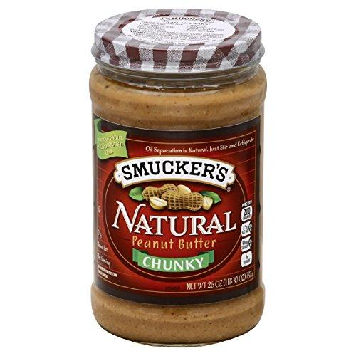 """<p><strong>Smucker's</strong></p><p>amazon.com</p><p><strong>$23.07</strong></p><p><a href=""""http://www.amazon.com/dp/B0045TNR48/?tag=syn-yahoo-20&ascsubtag=%5Bartid%7C2139.g.28466347%5Bsrc%7Cyahoo-us"""" target=""""_blank"""">BUY IT HERE</a></p><p>Yes, this is one of those PBs with the oil on top. But after a good stir, this """"rich"""" spread studded with """"good-sized chunks"""" blew away even the boutique brands in texture and flavor.</p>Per 2 Tbsp: 190 calories, 8g protein, 7g carbs (3g fiber), 16g fat"""