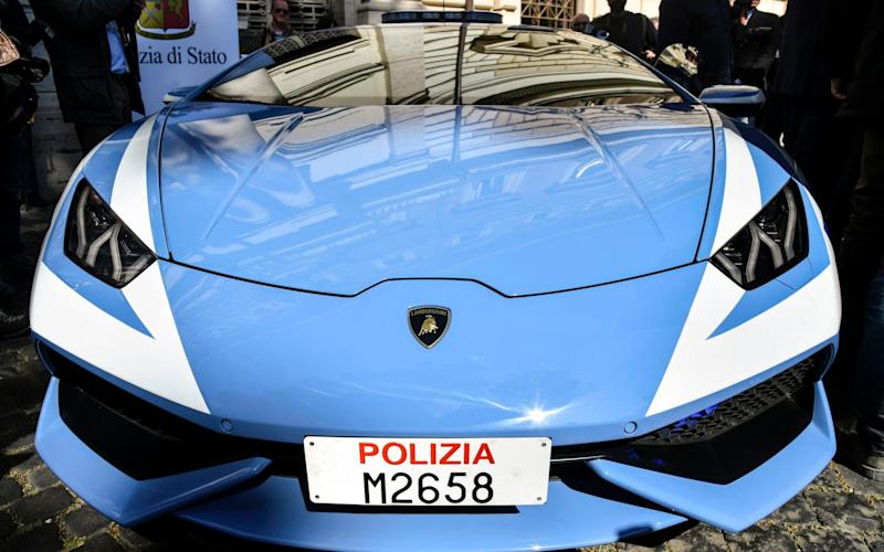 Italian police now have a new Lamborghini for catching criminals - AFP