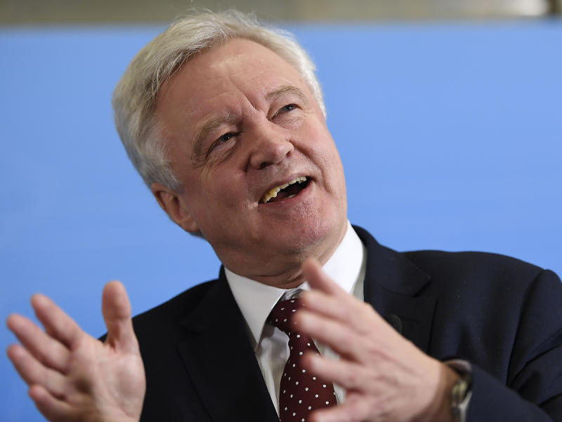 David Davis will order peers to ditch the Lords amendments: AP