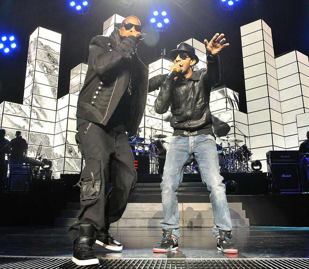 "Producer/rapper Swizz Beatz joined Jay on stage for a rowdy rendition of their hit single ""On to the Next One."" Dr. Billy Ingram/<a href=""http://www.wireimage.com"" target=""new"">WireImage.com</a> - March 26, 2010"