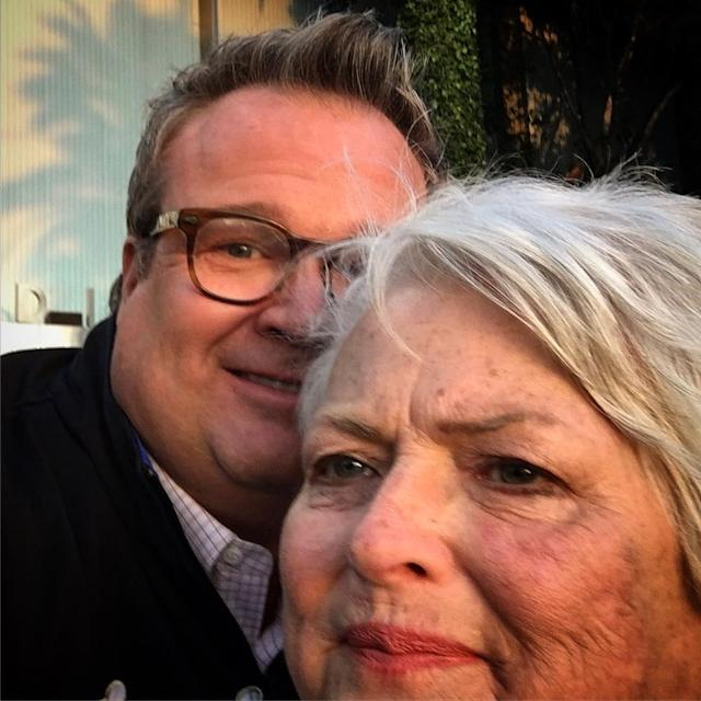 "<p>Vergara's co-star also gave a shout-out to his mom, Jamey, who has survived cancer twice. ""The classic mom looks at the wrong place on the iPhone 10 times until you finally just give up and say we got it selfie,"" he explained of their funny selfie. ""Happy Mother's Day mommy."" (Photo: <a href=""https://www.instagram.com/p/BUFGhw3jBej/"" rel=""nofollow noopener"" target=""_blank"" data-ylk=""slk:Eric Stonestreet via Instagram"" class=""link rapid-noclick-resp"">Eric Stonestreet via Instagram</a>) </p>"