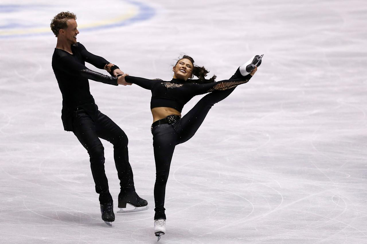 Figure Skating - ISU World Team Trophy - Ice Dance Short Dance - Tokyo, Japan - 20/4/17 - Madison Chock and Evan Bates of U.S. compete. REUTERS/Issei Kato