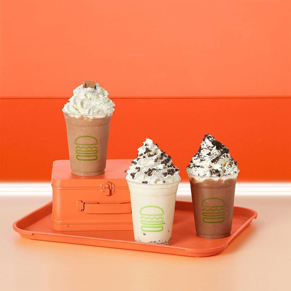 """<p><strong>Official Menu Description: </strong>""""Don't call it ice cream: our dense, rich, and creamy frozen custard is the real deal—and we spin it fresh daily at the Shack!</p><p>Our vanilla and chocolate recipes only use real sugar (no high-fructose corn syrup), cage-free eggs, and milk from dairy farmers who pledge not to use artificial growth hormones."""" - <a href=""""https://www.shakeshack.com/"""" rel=""""nofollow noopener"""" target=""""_blank"""" data-ylk=""""slk:Shake Shack"""" class=""""link rapid-noclick-resp"""">Shake Shack</a> </p><p><strong><strong>Verdict:</strong> </strong>The Shake Shack Black & White milkshake is a favorite among fans from every region. """"I have a long distance love affair with Shake Shack. Every time I am able to visit one I do. Their burgers are wonderful and the cheese sauce on the fries is heavenly. It was fun to be able to have a casual dinner in a neighborhood full of swankier restaurants. I highly recommend the Black and White Milkshake. It is just amazing."""" mentions a reviewer on <a href=""""https://www.tripadvisor.com/ShowUserReviews-g35805-d7200288-r258586486-Shake_Shack-Chicago_Illinois.html"""" rel=""""nofollow noopener"""" target=""""_blank"""" data-ylk=""""slk:Tripadvisor"""" class=""""link rapid-noclick-resp"""">Tripadvisor</a>. </p><p>Made with equal parts chocolate and vanilla ice cream, the decadence of this shake is incomparable. With a thicker texture and more pronounced taste, it may take a while for you to get used to gulping it down. Don't let that bog you down, this shake is worth the work. Simplicity matched with high quality dairy make this number one on the list. </p>"""