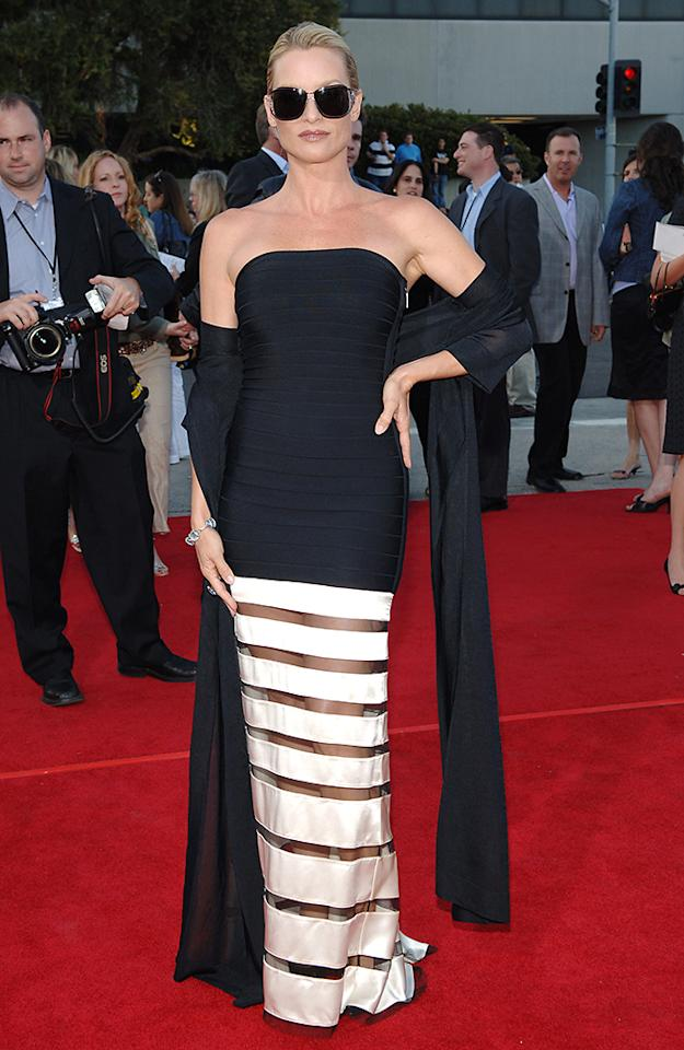 <p>Nicollette Sheridan arrives at the premiere on June 7, 2005. The actress had just made a splash on the ABC drama 'Desperate Housewives.'</p>