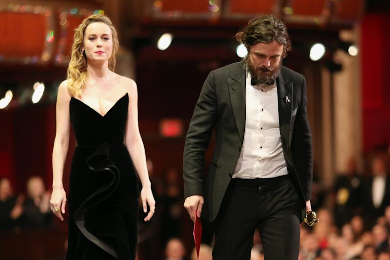 Awkward? Brie Larson refused to applaud Casey Affleck's Oscar win: Christopher Polk/Getty Images