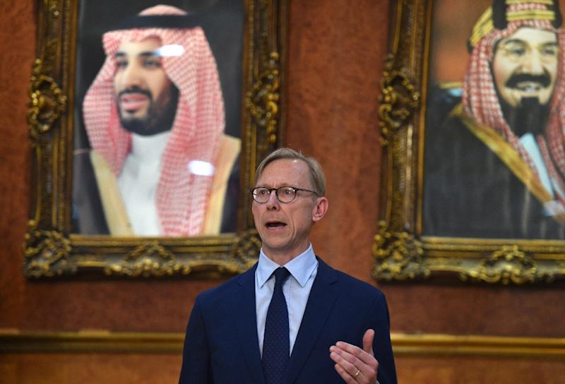 The US special representative on Iran, Brian Hook, is holding consultations on the drone downing with key ally Saudi Arabia, which has pushed for a tough approach against its regional arch-rival