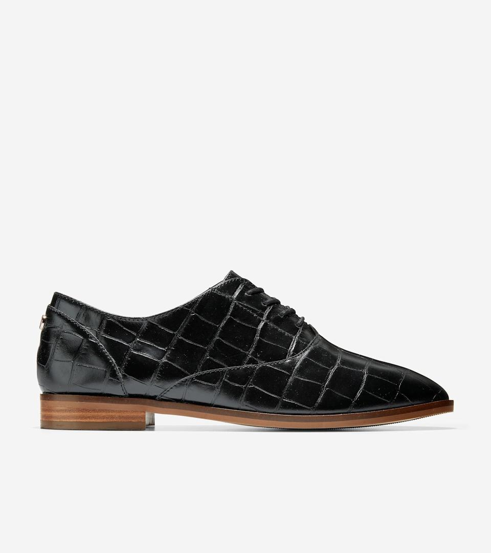 "<h2>Cole Haan</h2><br><strong>Dates: </strong>Limited time<br><strong>Sale: </strong>Up to 70% off sitewide and an extra 10% off <br><strong>Promo Code: </strong>THEBEST<br><br><em>Shop </em><strong><a href=""https://www.colehaan.com/"" rel=""nofollow noopener"" target=""_blank"" data-ylk=""slk:Cole Haan"" class=""link rapid-noclick-resp""><em>Cole Haan</em></a></strong><br><br><strong>Cole Haan</strong> Modern Classics Oxford, $, available at <a href=""https://go.skimresources.com/?id=30283X879131&url=https%3A%2F%2Fwww.colehaan.com%2Fmodern-classics-oxford-black-croc-print%2FW19021.html"" rel=""nofollow noopener"" target=""_blank"" data-ylk=""slk:Cole Haan"" class=""link rapid-noclick-resp"">Cole Haan</a>"