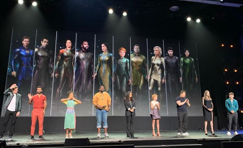 The Eternals cast at D23 Expo (Credit: Disney)