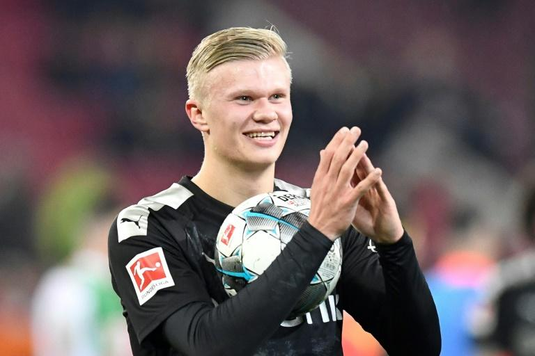 Erling Braut Haaland has become the talk of the Bundesliga after his sensational debut hat-trick (AFP Photo/THOMAS KIENZLE)