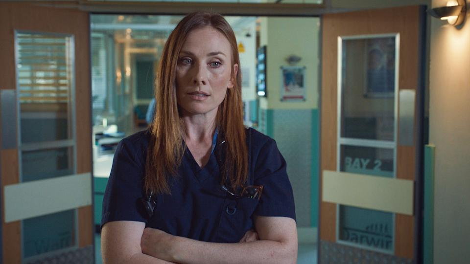 Programme Name: Holby City - TX: 19/01/2021 - Episode: Holby City S22 - Ep34 (No. n/a) - Picture Shows:  Jac Naylor (ROSIE MARCEL) - (C) BBC - Photographer: Screengrab