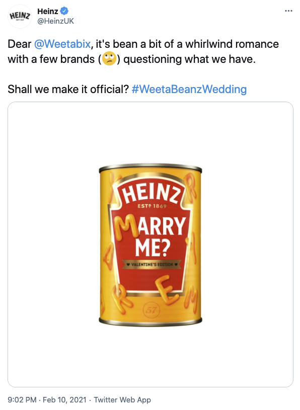 Heinz suggested they and Weetabix
