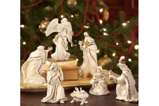 """<p>From simple to ornate, nativity sets are treasured pieces of holiday decor that serve as a reminder of the season.</p> <p> Lenox Holiday 7-piece Mini Nativity Set: $99.95; <em><a href=""""http://www.anrdoezrs.net/links/7885610/type/dlg/sid/SL%2CRX_1909ClassicChristmasCollectiblesThatAreWorthPassingDown_NativitySets%2Csimsj%2C%2CIMA%2C644480%2C201909%2CI/https://www.lenox.com/product/806053"""" target=""""_blank"""">lenox.com</a></em></p>"""