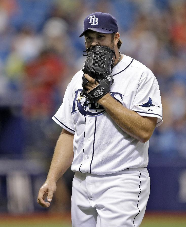 Rays cut reliever Heath Bell, recall Nathan Karns