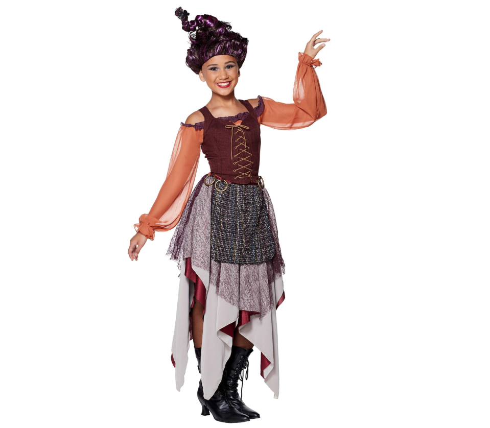 """<p>spirithalloween.com</p><p><strong>$44.99</strong></p><p><a href=""""https://go.redirectingat.com?id=74968X1596630&url=https%3A%2F%2Fwww.spirithalloween.com%2Fproduct%2Ftween-mary-sanderson-costume-hocus-pocus%2F151487.uts&sref=https%3A%2F%2Fwww.countryliving.com%2Fshopping%2Fnews%2Fg4786%2Fhocus-pocus-costume-collection%2F"""" rel=""""nofollow noopener"""" target=""""_blank"""" data-ylk=""""slk:Shop Now"""" class=""""link rapid-noclick-resp"""">Shop Now</a></p><p>If you're the middle sister in real life, it'd be fun to dress as middle sister Mary too.</p>"""