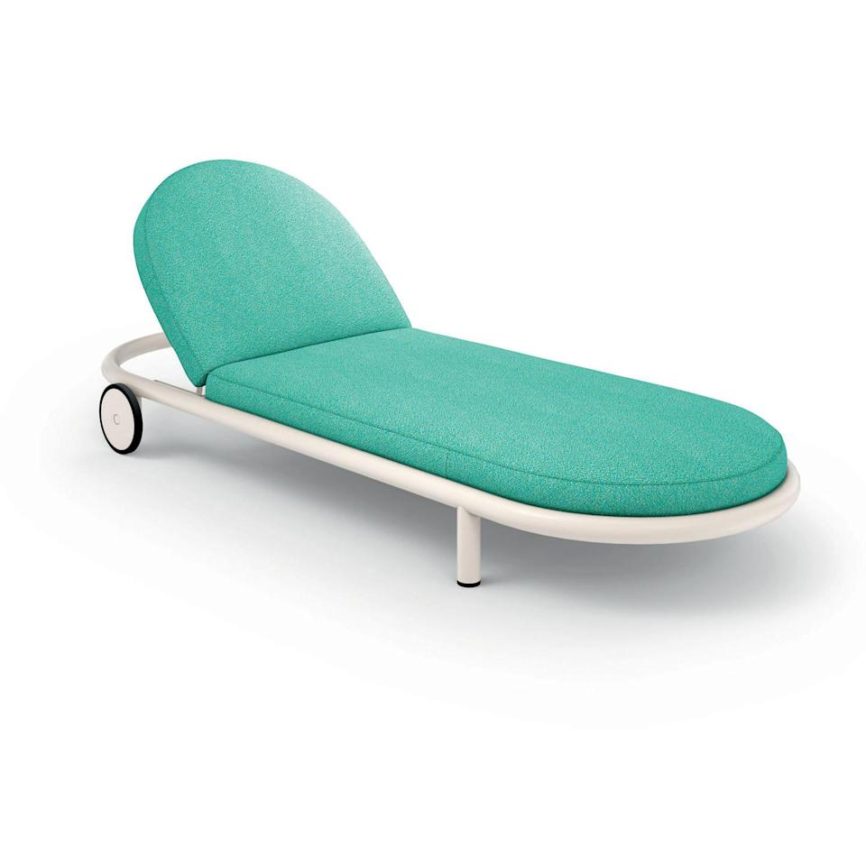 """<p>Patricia Urquiola is said to have wanted her 'Trampoline' collection to display the joy of outdoor living. You can certainly sense the fun in this design. With its rounded edges and soft, playful dimensions, it is as guaranteed to put a smile on your face as a sunny day. £4,395, <a href=""""https://chaplins.co.uk/"""" rel=""""nofollow noopener"""" target=""""_blank"""" data-ylk=""""slk:chaplins.co.uk"""" class=""""link rapid-noclick-resp"""">chaplins.co.uk</a></p>"""