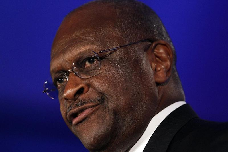"FILE - In this June 17, 2011, file photo Republican presidential hopeful Herman Cain speaks at the Republican Leadership Conference in New Orleans, La.  On ABC's This Week on Sunday, Oct. 21, 2011, Cain said he should not have stayed silent after the audience at a GOP debate booed a gay soldier serving in Iraq. He said it would have been ""appropriate"" for him to have defended the soldier. None of the candidates on stage at the Sept. 22 forum responded to the boos. (AP Photo/Pat Semansky, File)      The Georgia businessman told ABC's This Week on Sunday that it would have been ""appropriate"" for him to have asked the audience to respect the soldier.  (AP Photo/Patrick Semansky)"