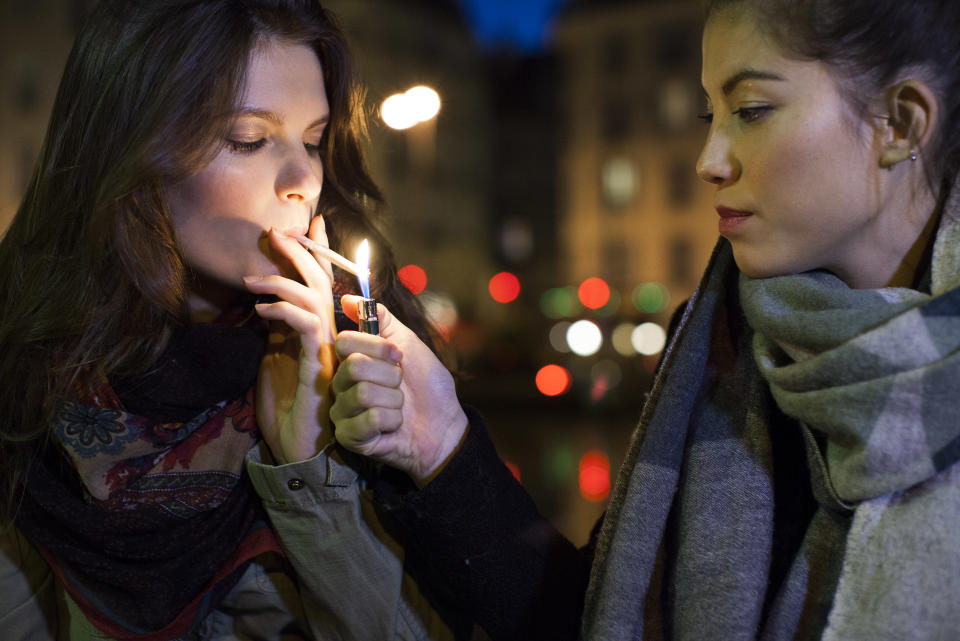 Time to quit social smoking? [Photo: Getty]