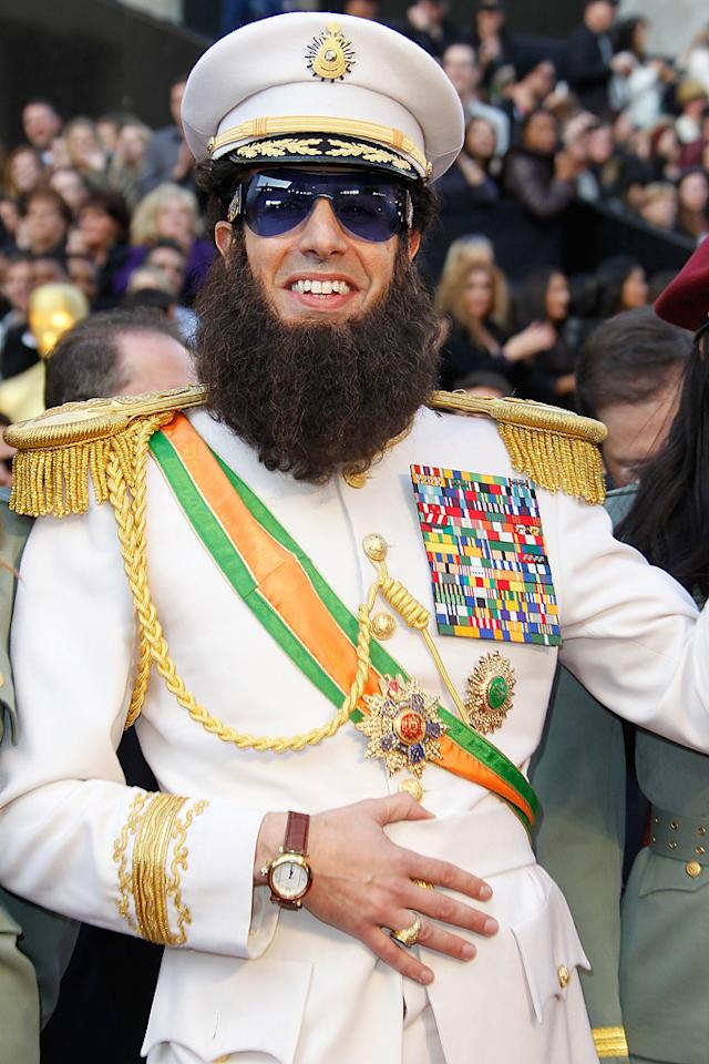 Sacha Baron Cohen arrives at the 84th Annual Academy Awards in Hollywood, CA.