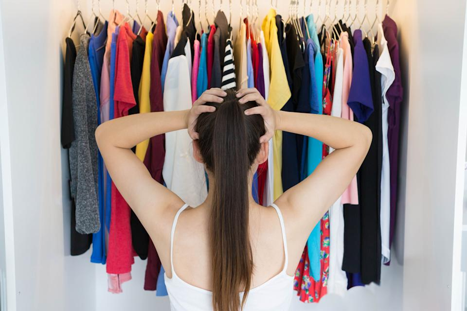 Spending too much time choosing your daily outfit could decrease your productivity. (Photo: globalmoments via Getty Images)