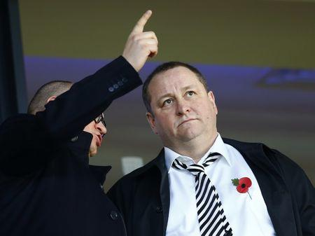 FILE PHOTO: Newcastle United owner Mike Ashley attends their English Premier League soccer match on Remembrance Sunday against West Bromwich Albion at The Hawthorns in West Bromwich, central England November 9, 2014.  REUTERS/Darren Staples/Files