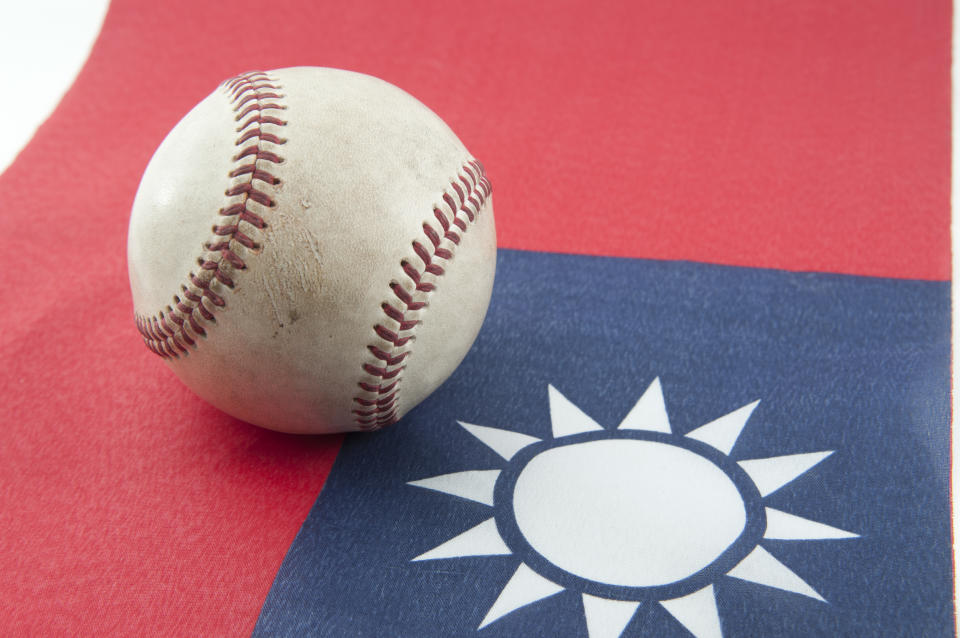 Baseball and Taiwan Flag ,a lot of people like to play Baseball so much so baseball which used in that place will come to sport of country.