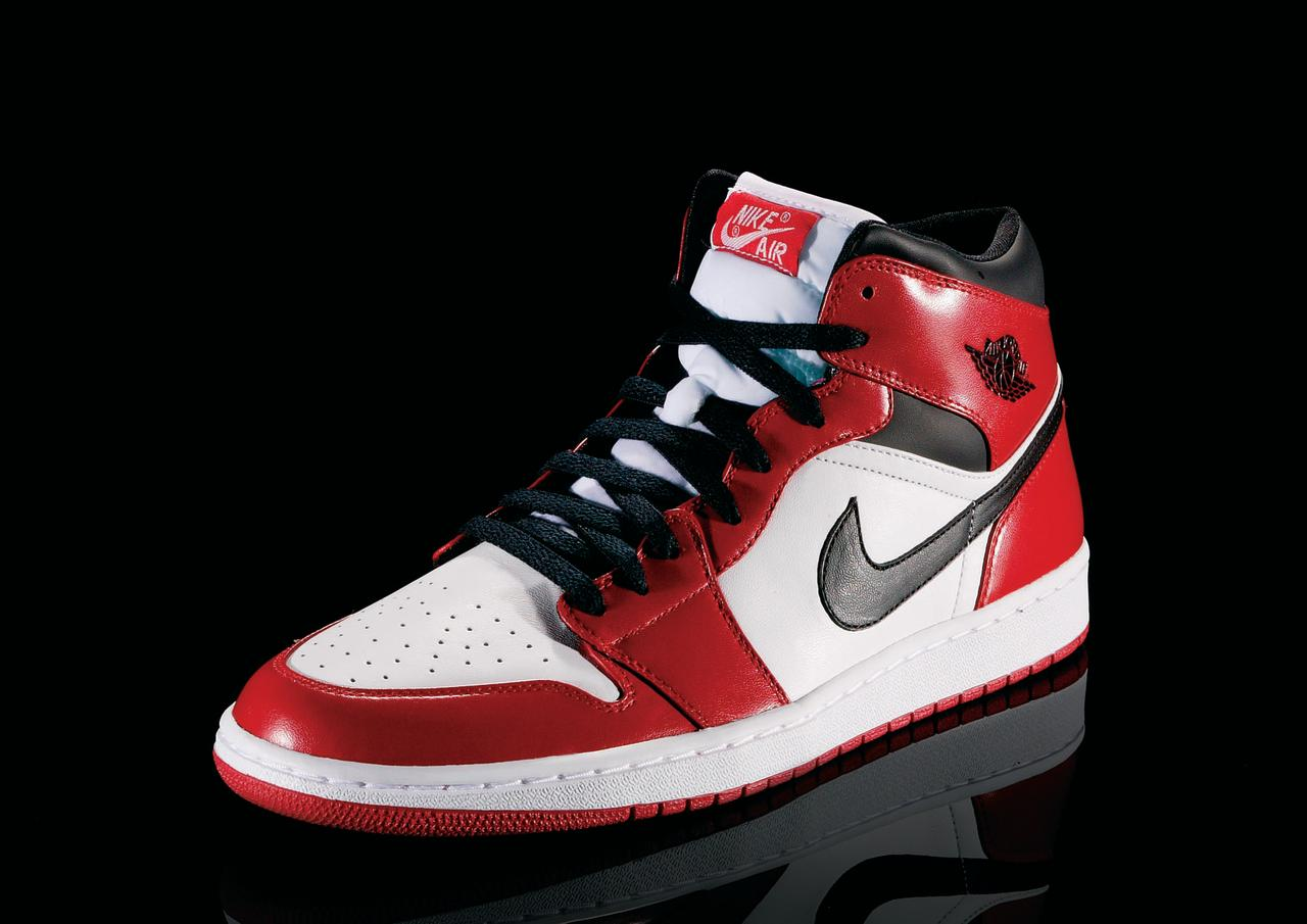 """<p>Air Jordan I - """"Notorious"""" (1984): The shoe that started it all. The original black and red version was barred by the NBA for """"non-regulation colors."""" (Photo Courtesy of Nike)</p>"""