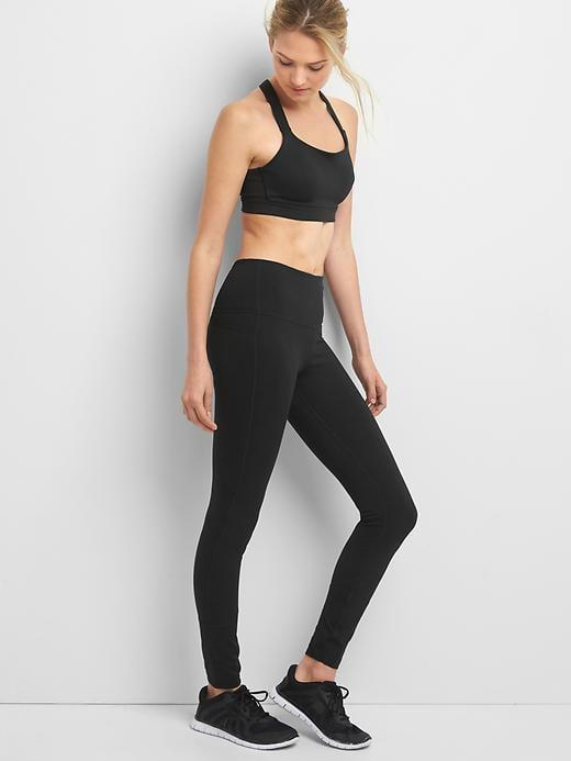 <p>If you've been curious about Gap's workout clothes, start with these <span>GapFit High Rise Blackout Full Length Leggings</span> ($55, originally $70). They're a customer favorite, and an essential pair of black leggings.</p>