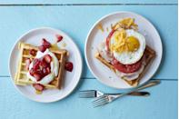 """<p>A classic for a reason, there's just something so special about breakfast in bed. This is especially true on <a href=""""https://www.womansday.com/life/g35634533/mothers-day-activities/"""" rel=""""nofollow noopener"""" target=""""_blank"""" data-ylk=""""slk:Mother's Day"""" class=""""link rapid-noclick-resp"""">Mother's Day</a>. Whether your mom (or grandma, wife, mother-in-law, aunt — basically any person who is a """"mom"""" to you!) is always cooking <a href=""""https://www.womansday.com/food-recipes/food-drinks/g1612/healthy-kid-friendly-recipes/"""" rel=""""nofollow noopener"""" target=""""_blank"""" data-ylk=""""slk:everyone else's breakfast"""" class=""""link rapid-noclick-resp"""">everyone else's breakfast</a>, or is out the door before the meal is served, it's a lovely gesture. </p><p>So that means, on May 9, you're going to have to <a href=""""https://www.womansday.com/food-recipes/food-drinks/g2235/brunch-mimosa-recipes/"""" rel=""""nofollow noopener"""" target=""""_blank"""" data-ylk=""""slk:get the mimosas ready"""" class=""""link rapid-noclick-resp"""">get the mimosas ready </a>and pick out one of these best breakfast in bed recipes for the special woman in your life. Whether she loves pancakes, eggs, a perfect sandwich, or yogurt, we've got it all. And every recipe on this list is delicious and easy to put together, so you really can't go wrong. If kids are around, get them in on the action by letting them know how sweet it is to make food for their mom (not to mention, it's the <a href=""""https://www.womansday.com/life/g2311/diy-mothers-day-gifts/"""" rel=""""nofollow noopener"""" target=""""_blank"""" data-ylk=""""slk:perfect DIY gift idea"""" class=""""link rapid-noclick-resp"""">perfect DIY gift idea</a>). Oh, and let's not forget delivery! These meals will transport easily, meaning if that special person lives close by, but you're social distancing, you can just drop it off at the front door for the ultimate Mother's Day surprise. </p><p>Now, grab your tray and let's get started! </p>"""