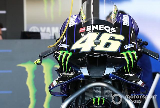 "Moto de Valentino Rossi, Yamaha Factory Racing <span class=""copyright"">Gold and Goose / Motorsport Images</span>"
