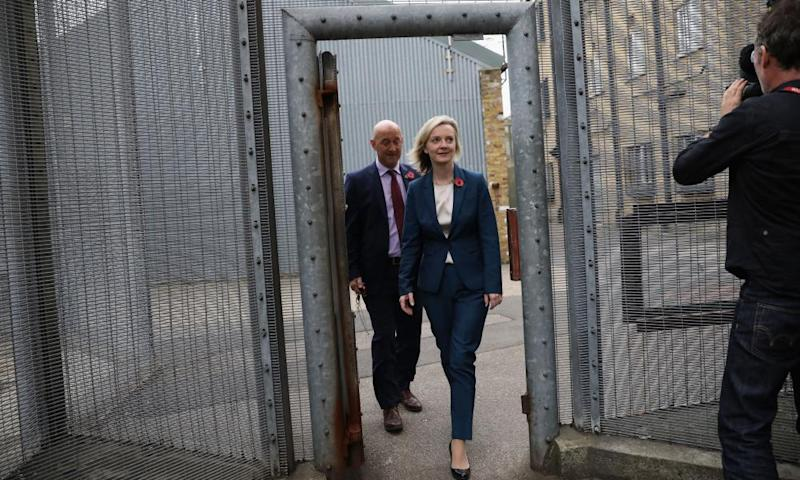 Liz Truss visiting HMP Brixton in November 2016