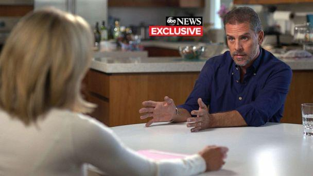 PHOTO: Hunter Biden speaks with ABC's Amy Robach, October 2019. (ABC News)