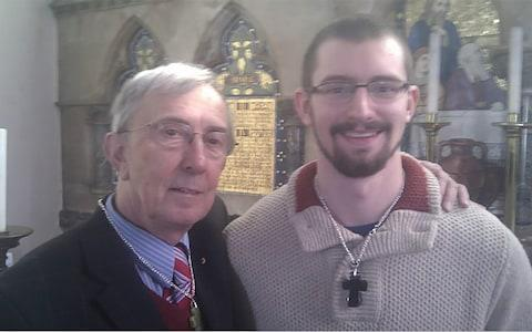 Peter Farquhar and Ben Field at their betrothal ceremony in 2014 - Credit: INS