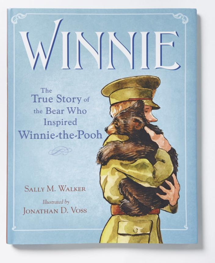 """Best Non-Fiction Picture Book: """"Winnie: The True Story of the Bear Who Inspired Winnie-the-Pooh""""by Sally M. Walker and Jonathan D. Voss"""