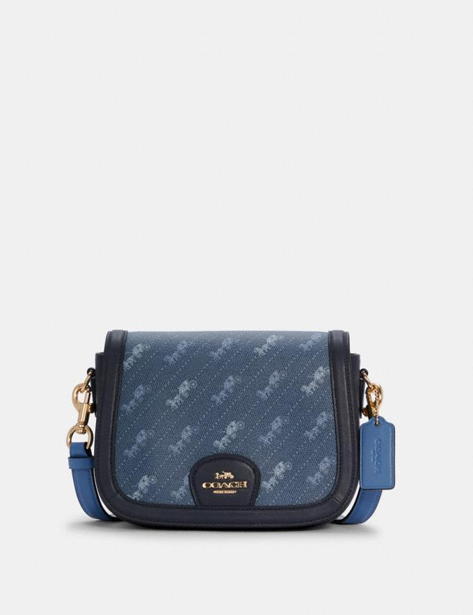 Saddle Bag With Horse And Carriage Dot Print- Coach Outlet