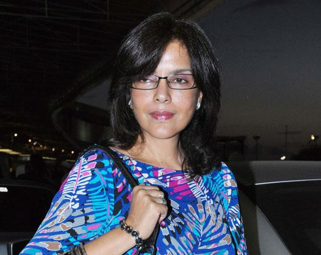 Zeenat Aman poses for the shutterbugs