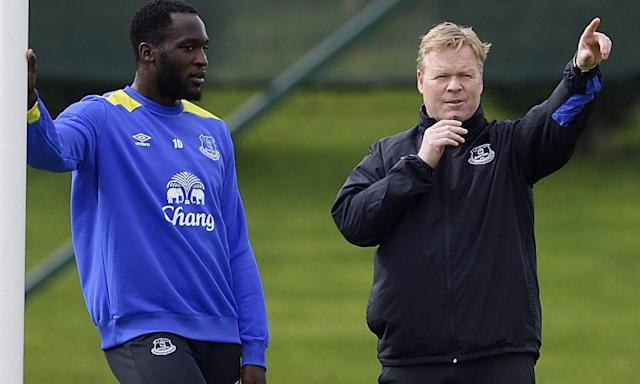 "<span class=""element-image__caption"">Ronald Koeman with Romelu Lukaku in training. The Everton manager believes success in the derby can help 'make a good season a special season'.</span> <span class=""element-image__credit"">Photograph: Tony McArdle - Everton FC/Everton FC via Getty Images</span>"