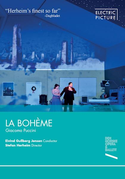 "This undated publicity photo provided by Electric Picture shows the cover of the DVD for Giacomo Puccini's ""La Boheme,"" directed by Stefan Herheim and conducted by Elvind Gullberg Jensen of the Den Norske Opera & Ballet in 2012. (AP Photo/Electric Picture)"