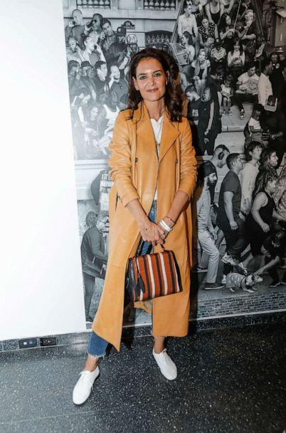 PHOTO: Katie Holmes attends JR: Chronicles Opening At The Brooklyn Museum at Brooklyn Museum on Oct. 2, 2019 in New York City. (Gonzalo Marroquin/Patrick McMullan via Getty Images)
