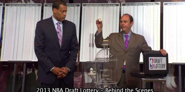 Thrill to the behind-the-scenes excitement of the actual NBA Draft Lottery drawing (Video)