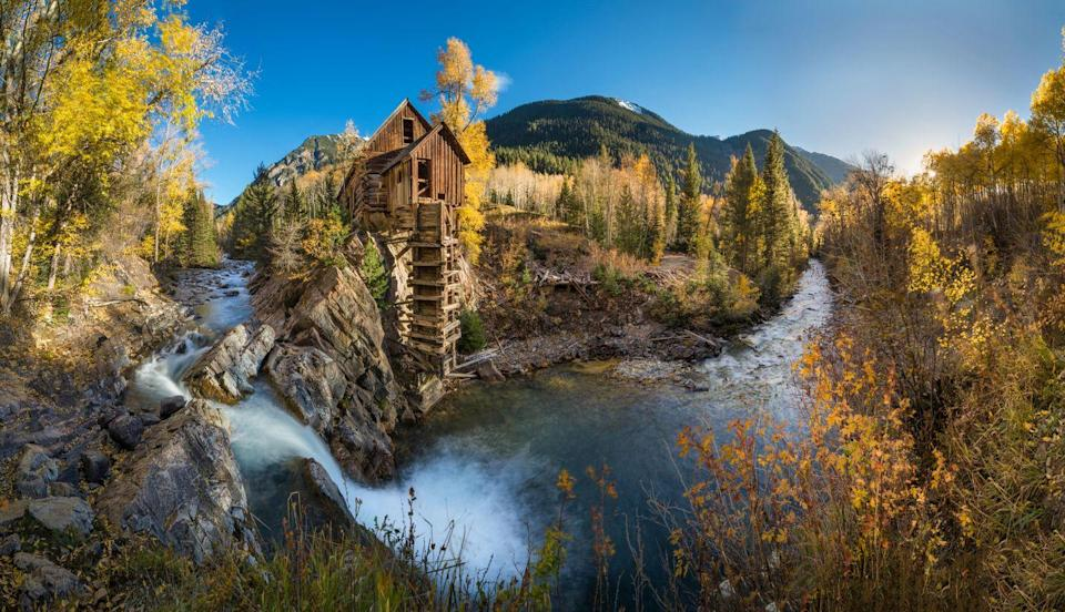 <p>A picturesque river once fueled this cliffside crystal mill.</p>