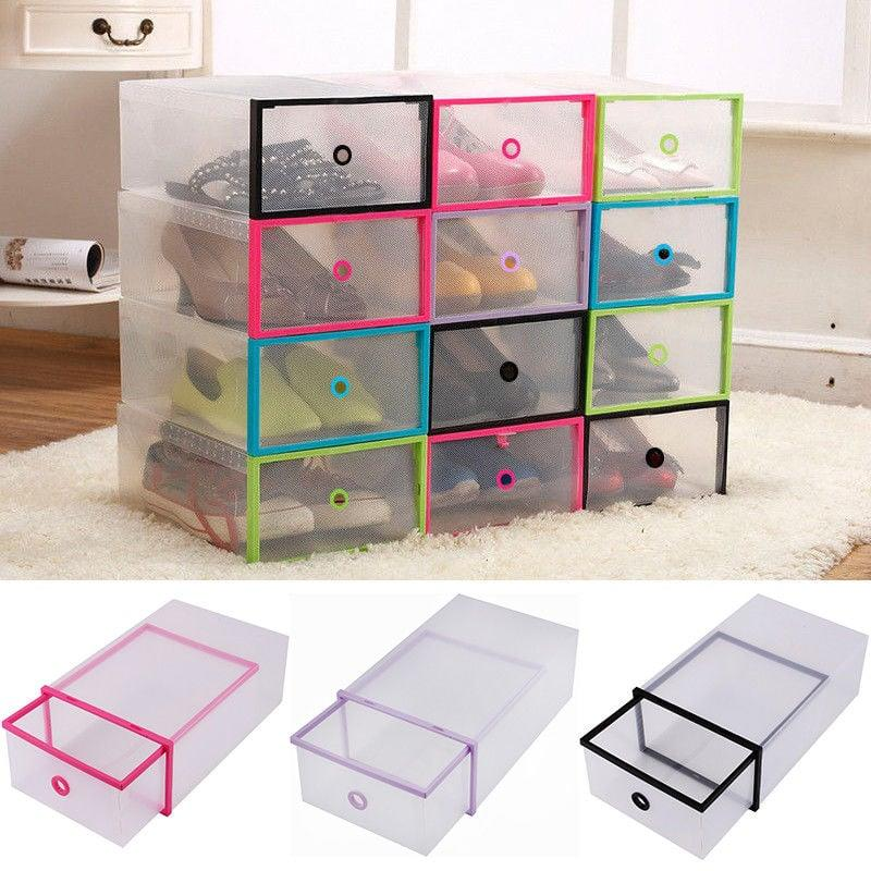 "<p>These color coded <a href=""https://www.popsugar.com/buy/Yosoo-5PCS-Shoe-Box-Drawer-Home-Organizers-487490?p_name=Yosoo%205PCS%20Shoe%20Box%20Drawer%20Home%20Organizers&retailer=walmart.com&pid=487490&price=6&evar1=casa%3Auk&evar9=46607561&evar98=https%3A%2F%2Fwww.popsugar.com%2Fhome%2Fphoto-gallery%2F46607561%2Fimage%2F46607596%2FYosoo-5PCS-Shoe-Box-Drawer-Home-Organizers&list1=shopping%2Cwalmart%2Corganization%2Cbedrooms%2Chome%20organization%2Chome%20shopping&prop13=api&pdata=1"" rel=""nofollow"" data-shoppable-link=""1"" target=""_blank"" class=""ga-track"" data-ga-category=""Related"" data-ga-label=""https://www.walmart.com/ip/Yosoo-5PCS-Shoe-Box-Drawer-Home-Organizers-Clear-Plastic-Shoe-Storage-Transparent-Boxes-Container-for-Shoes-Organizer/750585345?athcpid=750585345&amp;athpgid=athenaItemPage&amp;athcgid=null&amp;athznid=PWVUB&amp;athieid=v0&amp;athstid=CS020&amp;athguid=b14299bb-161-16cfe1bf0fb279&amp;athena=true"" data-ga-action=""In-Line Links"">Yosoo 5PCS Shoe Box Drawer Home Organizers</a> ($6-$21) are so cool.</p>"