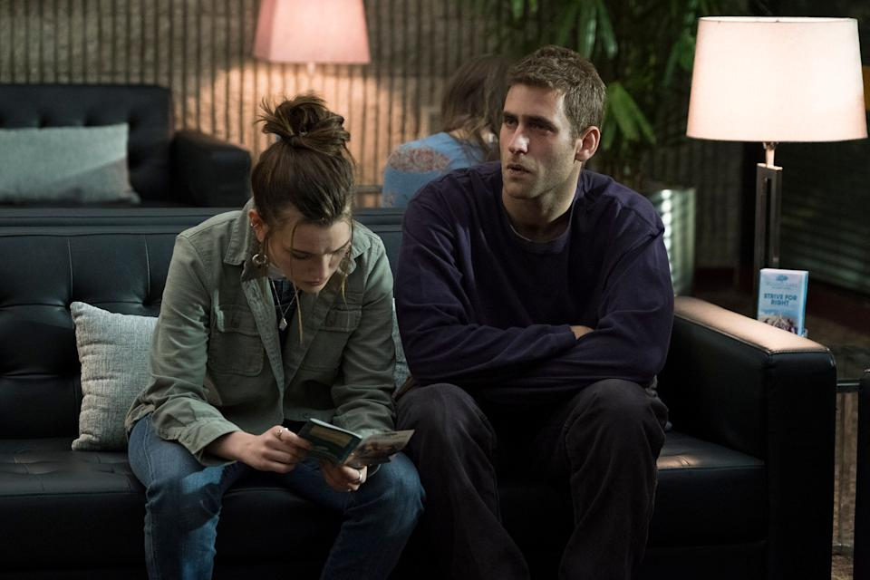 "Victoria Pedretti and Oliver Jackson-Cohen in 2018's ""The Haunting of Hill House"" as twins Nell and Luke Crain.  (Photo: Steve Dietl/Netflix)"
