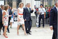 <p>The Belgian Queen leads by example, showing everyone the perfect unexpected summer print is butterflies. </p>