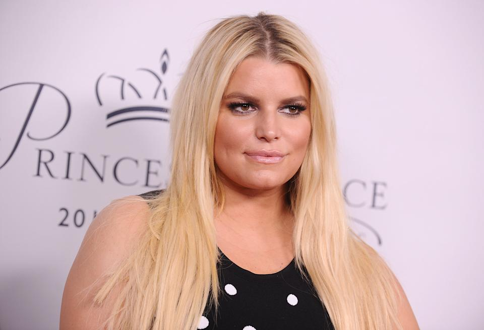 LOS ANGELES, CA - OCTOBER 24:  Jessica Simpson attends the 2017 Princess Grace Awards gala kick off event at Paramount Pictures on October 24, 2017 in Los Angeles, California.  (Photo by Jason LaVeris/FilmMagic)